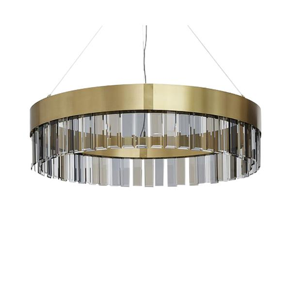Post-modern led crystal pendant lamp