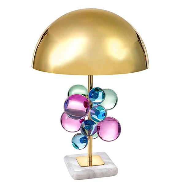 Colored glass bubble table lamp hotel table lamp