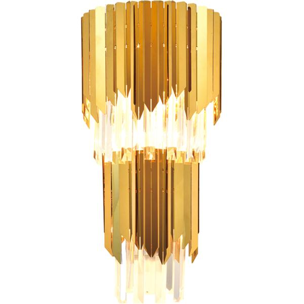 European and American postmodern metal crystal wall lamp