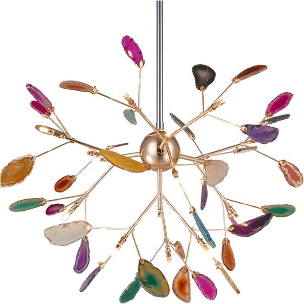 Postmodern color firefly chandelier