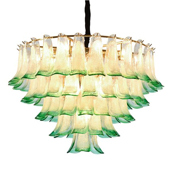 Nordic light luxury villa lighting green gradient glass chan