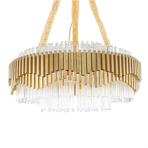 American minimalist metal living room chandelier