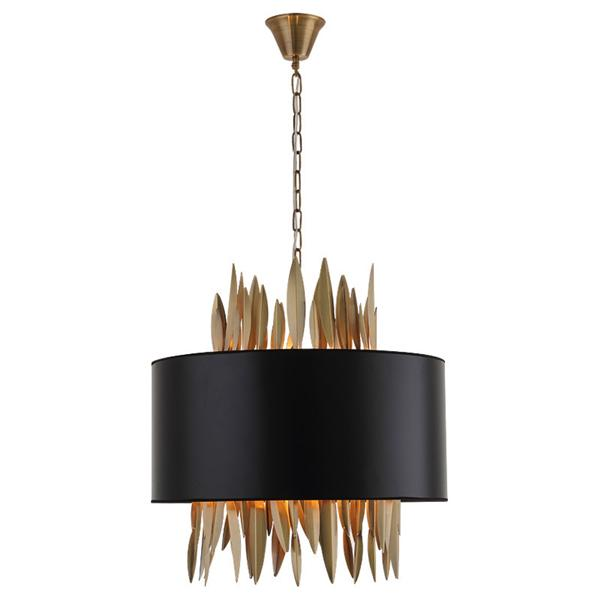 Postmodern metal black fabric shade chandelier