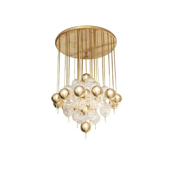 Villa Hotel Engineering Art Glass Pendant Chandelier