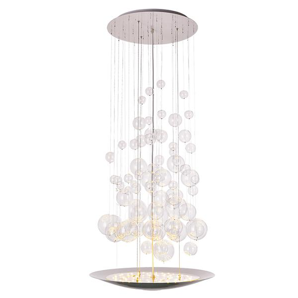 Duplex light glass ball bubble chandelier